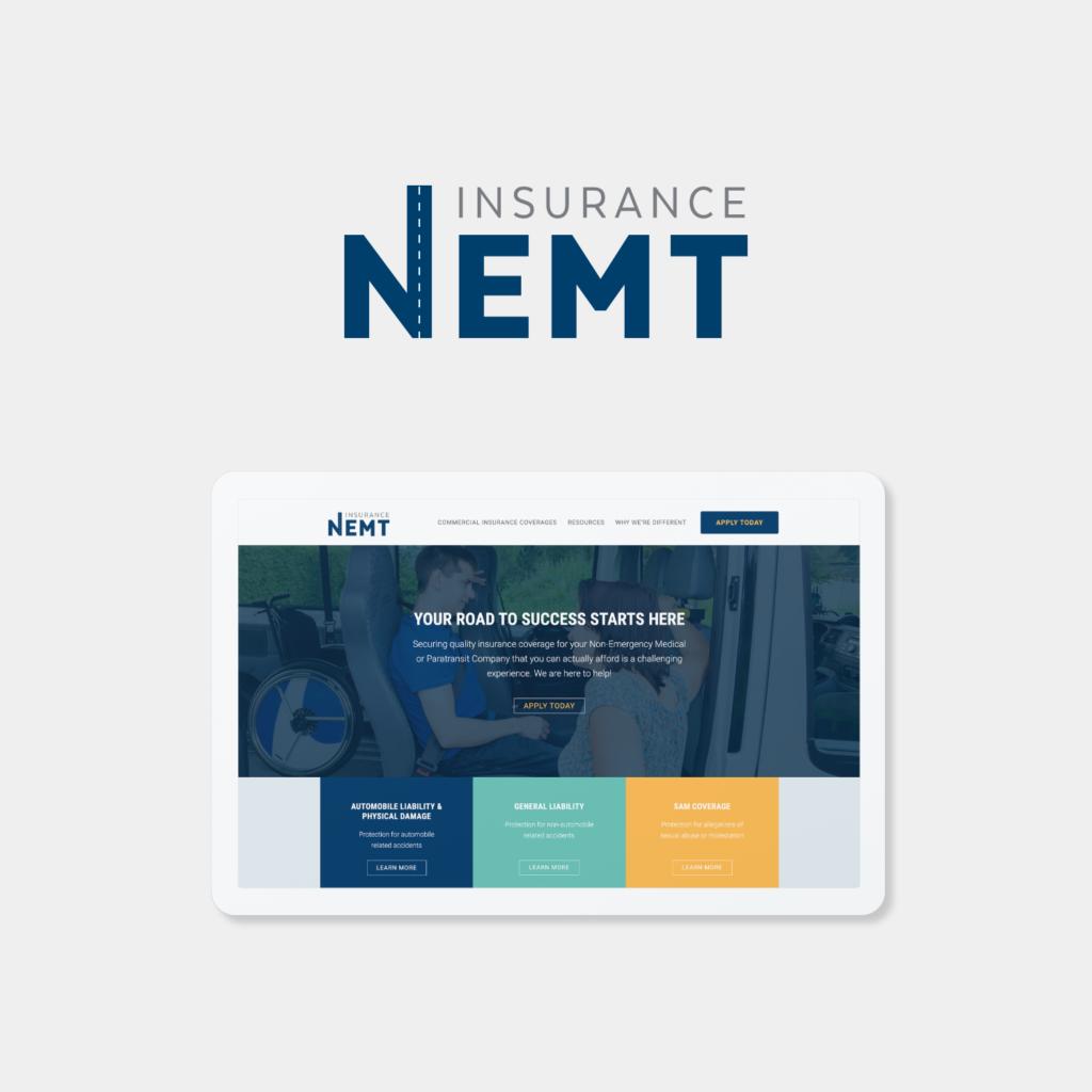 NEMT Insurance Website screenshot
